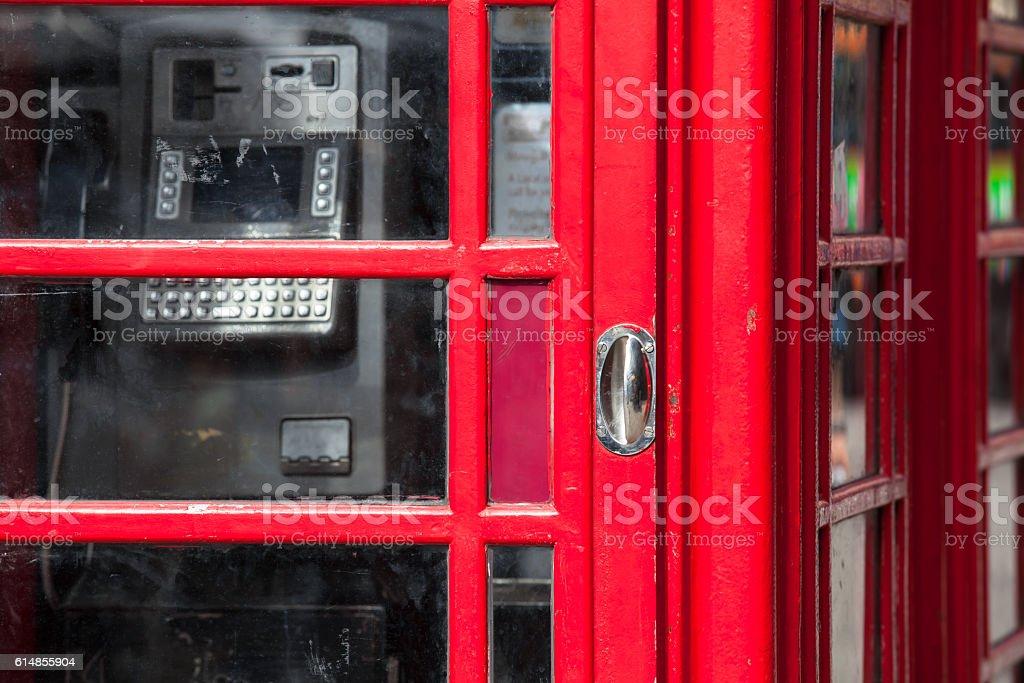 Telephone Box Detail stock photo