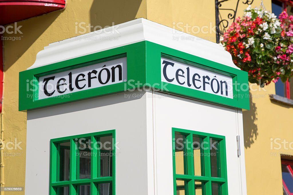 Telephone box, Ireland stock photo