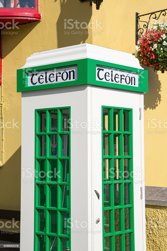 Telephone box, Ireland stock photo