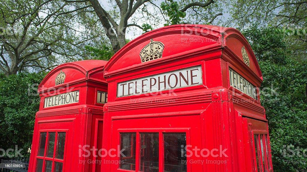 Telephone Box, London royalty-free stock photo