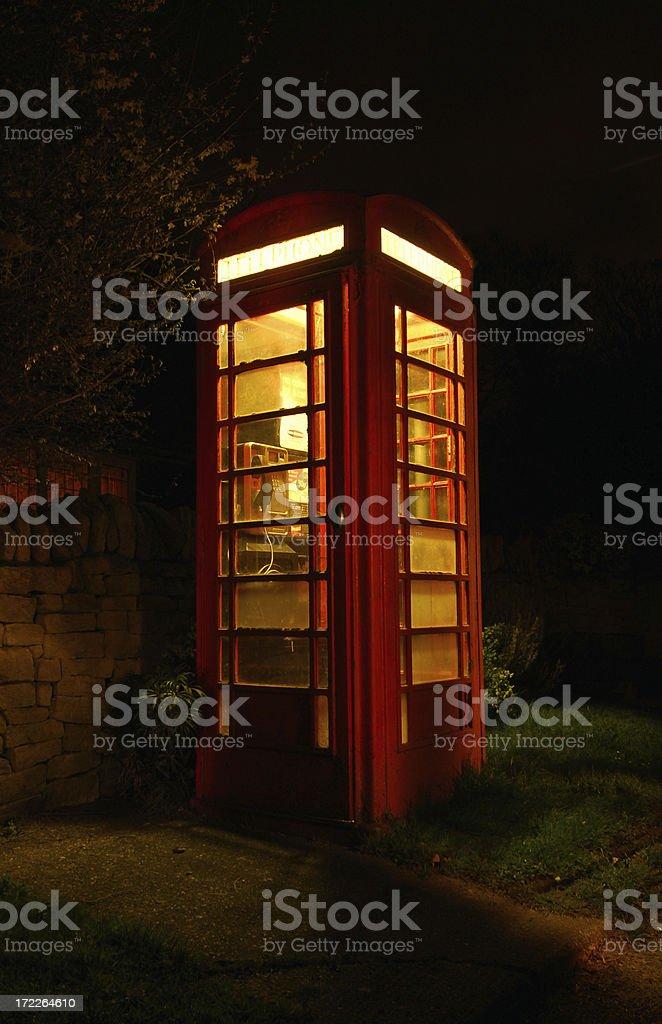 Telephone Box - Night royalty-free stock photo