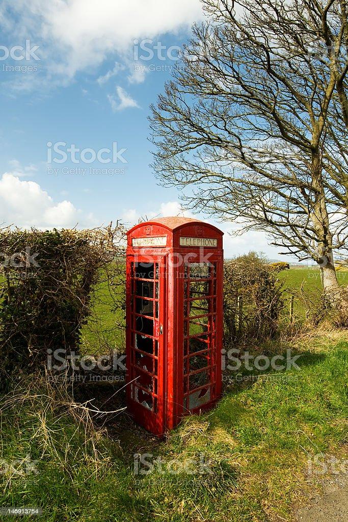 Telephone cabin royalty-free stock photo
