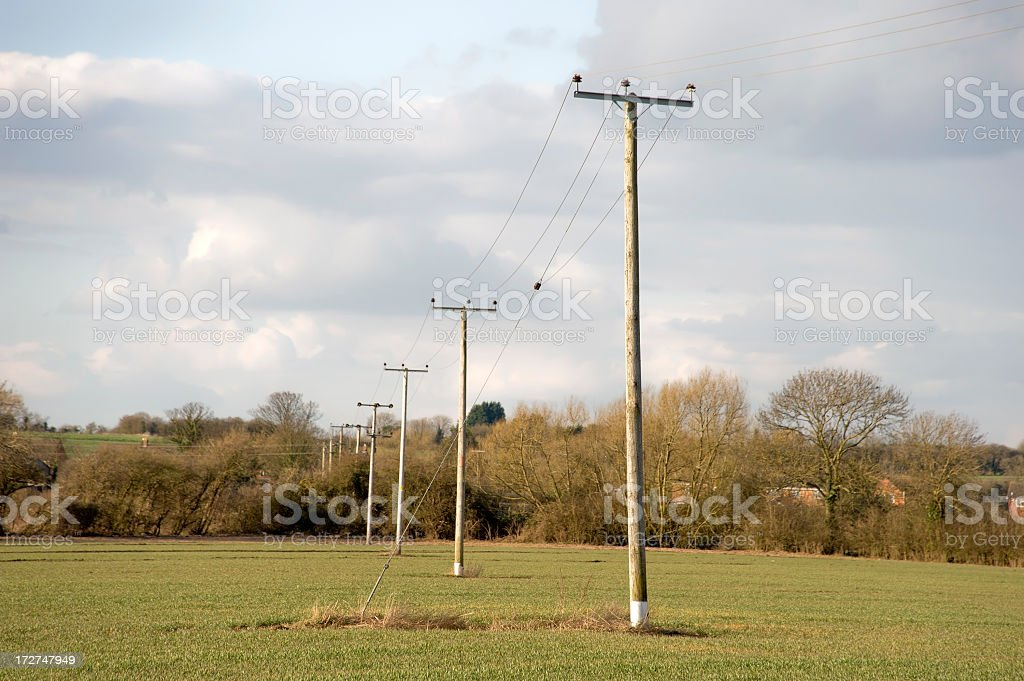 telephone cables royalty-free stock photo