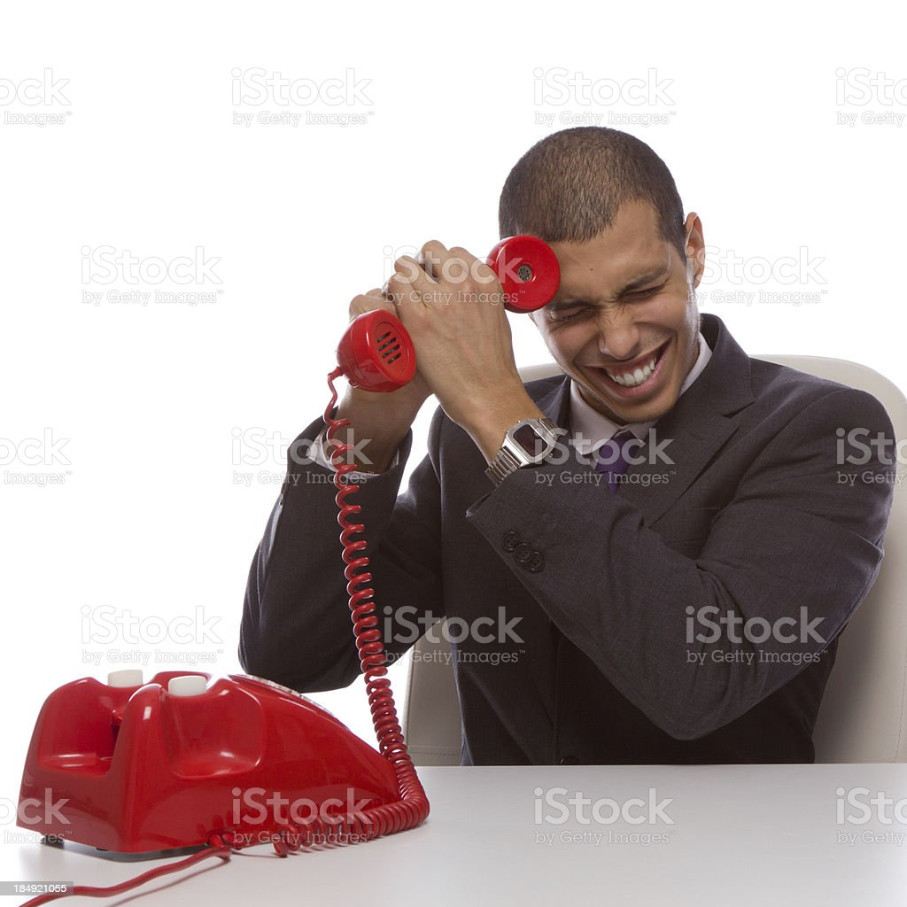 Telephone call goes wrong royalty-free stock photo