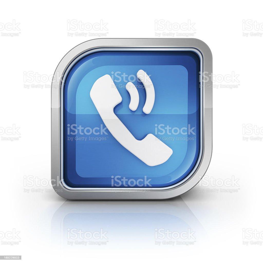 telephone call icon stock photo