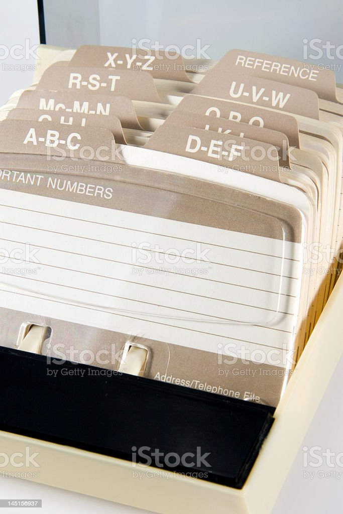 Telephone Card File royalty-free stock photo