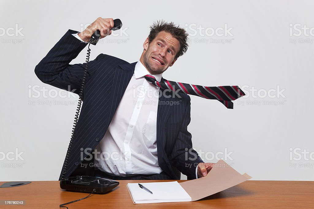 Telephone complaint stock photo
