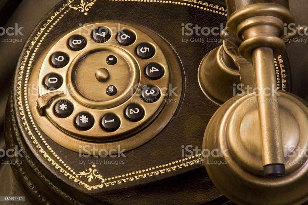 Telephone Detail Angled royalty-free stock photo