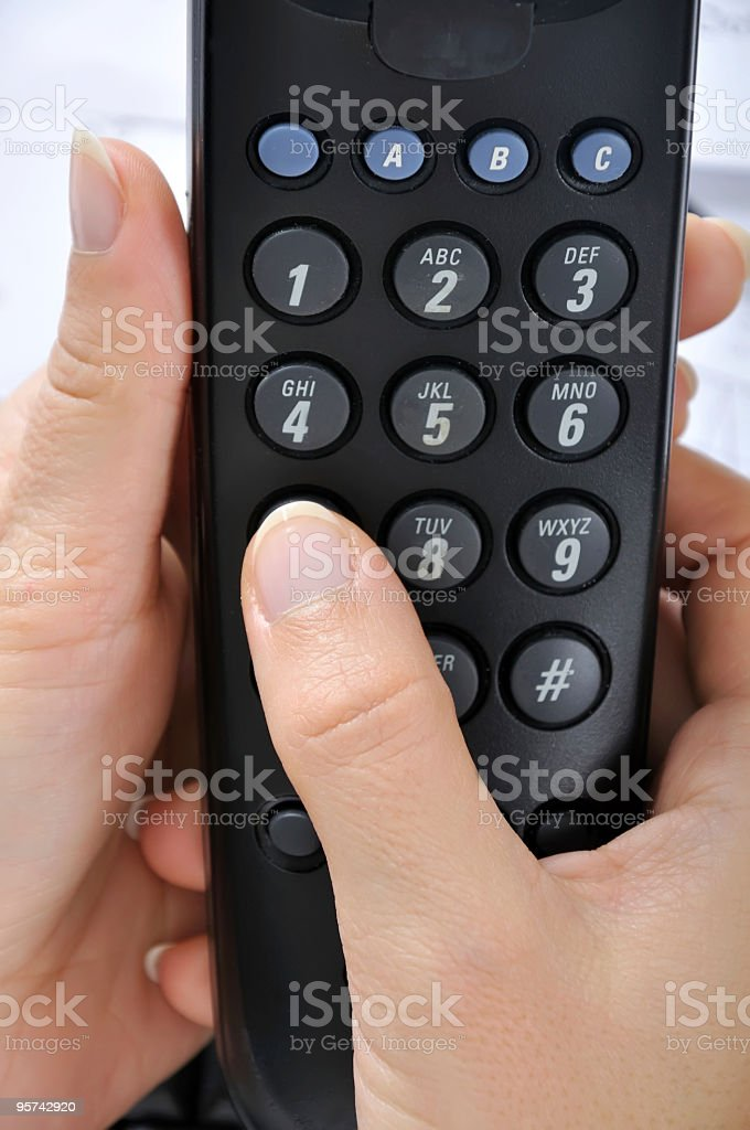 Telephone dilalpad stock photo