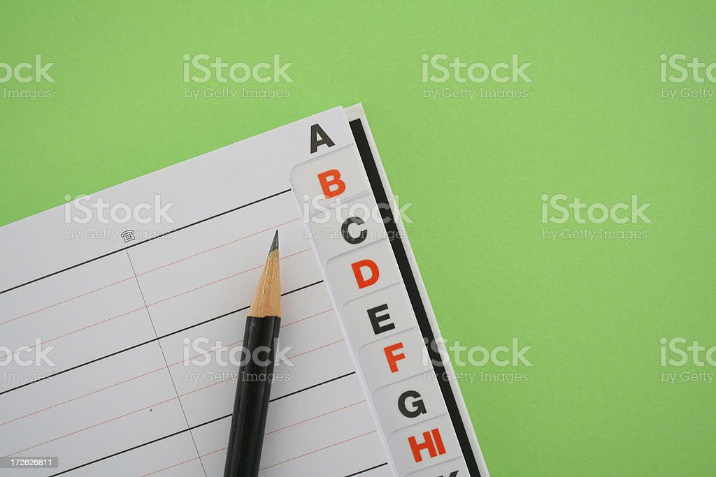 Telephone directory stock photo