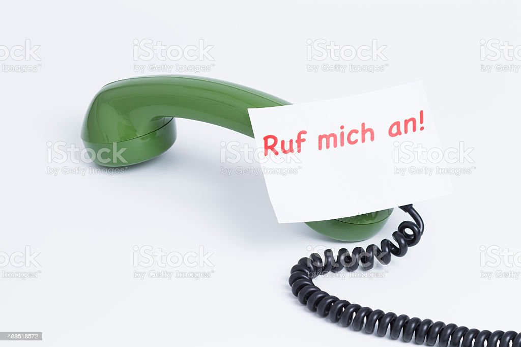 Telephone earphone stock photo
