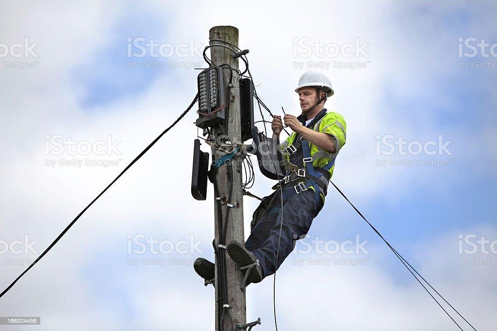 Telephone Engineer series royalty-free stock photo