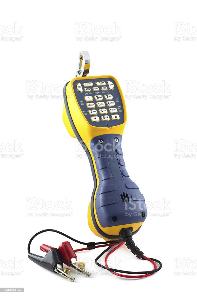 telephone fault finding stock photo