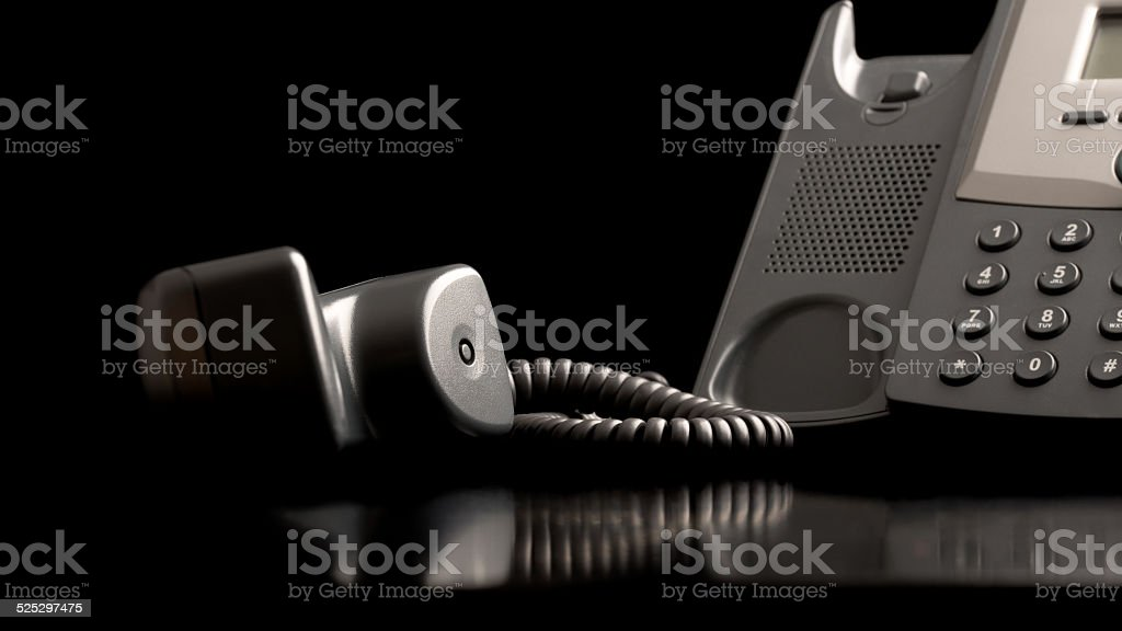 Telephone handset off the hook stock photo