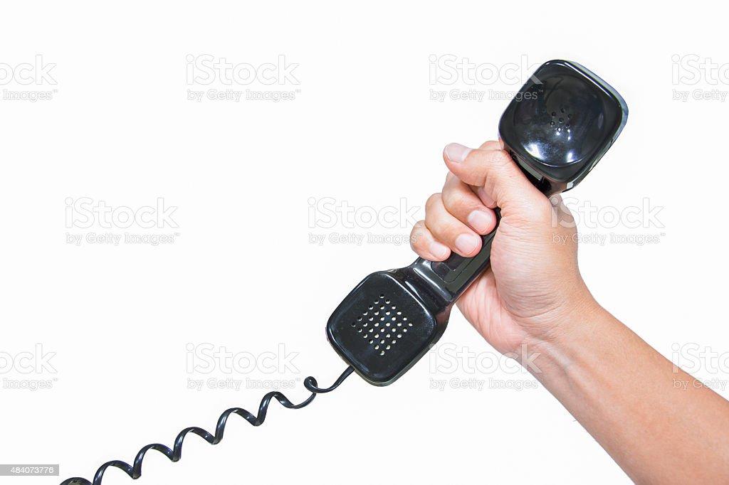 Telefone mit erhöhter Lizenzfreies stock-foto