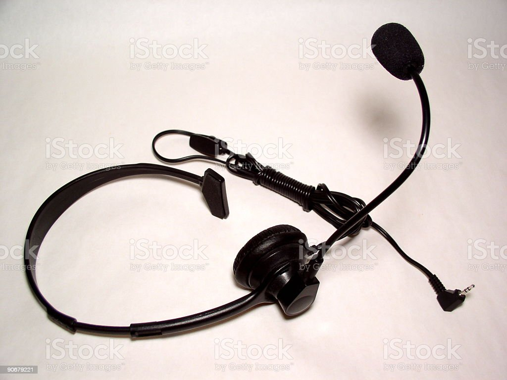 CALL - telephone headset stock photo