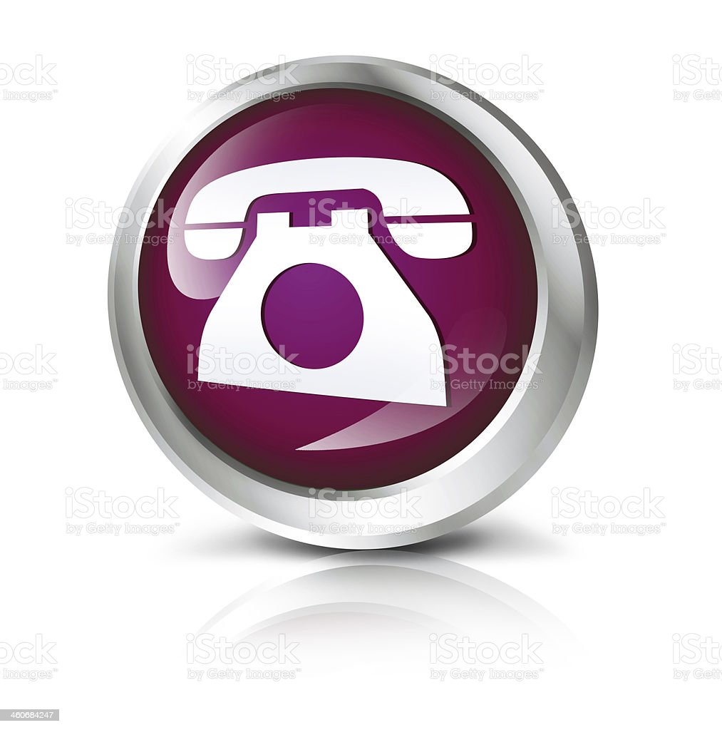 Telephone icon stock photo