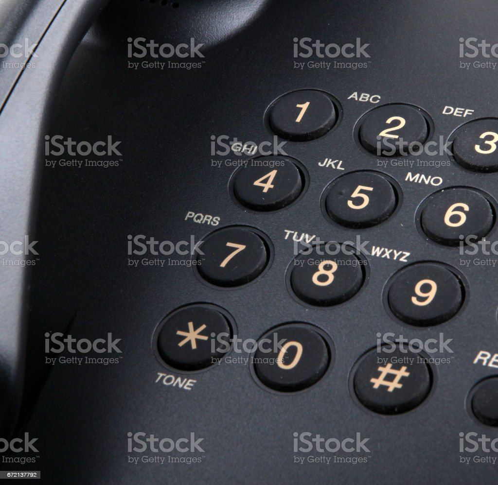 telephone isolated on white background stock photo