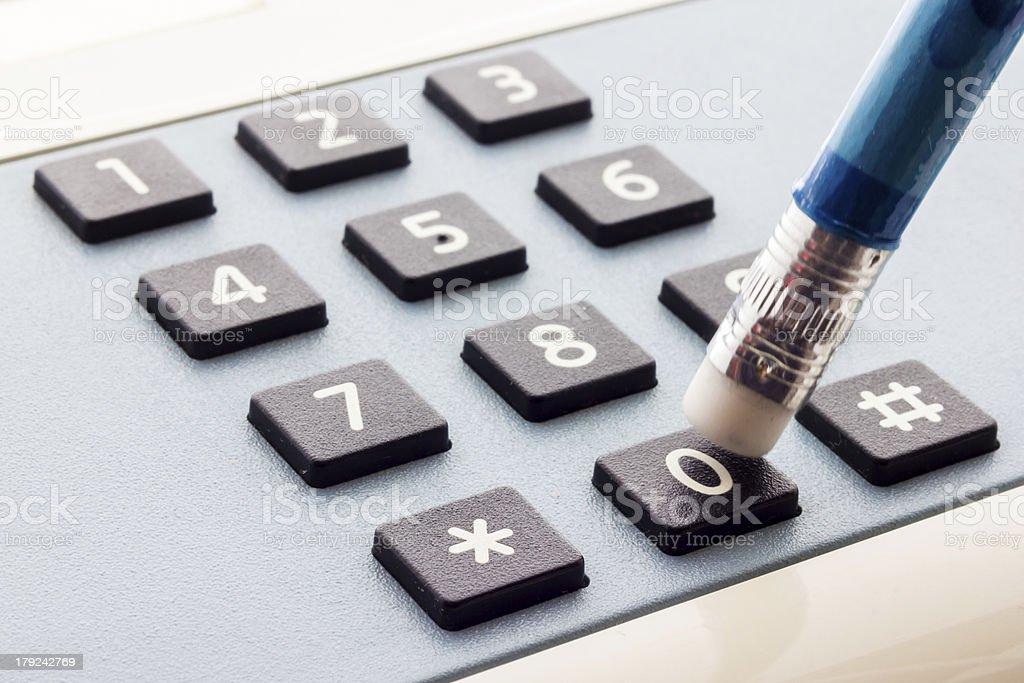 Telephone keyboard royalty-free stock photo