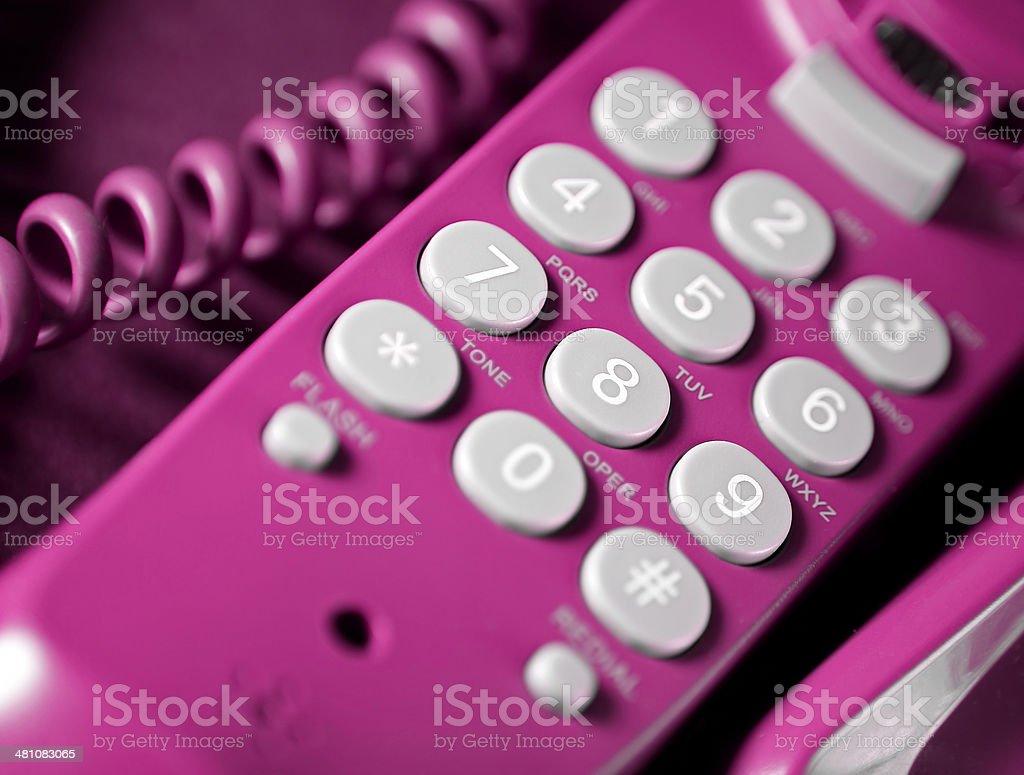 Telephone keypad close-up royalty-free stock photo