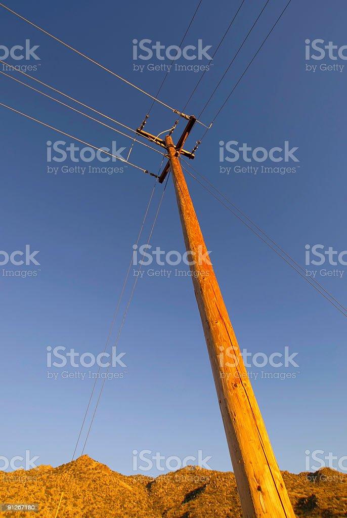 telephone lines stock photo