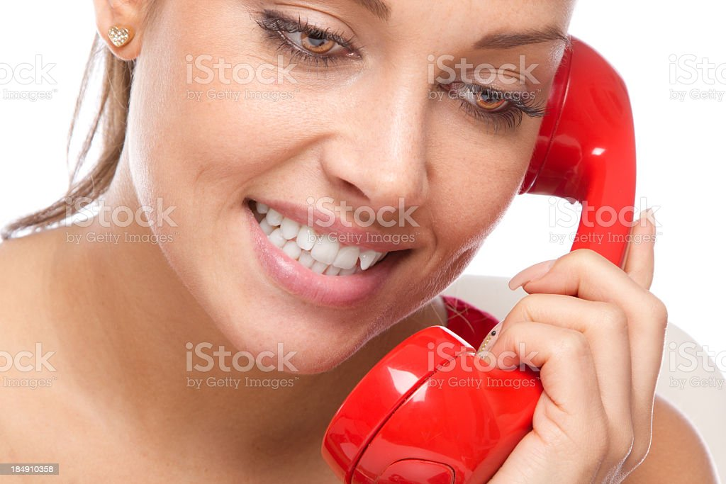 Telephone love stock photo