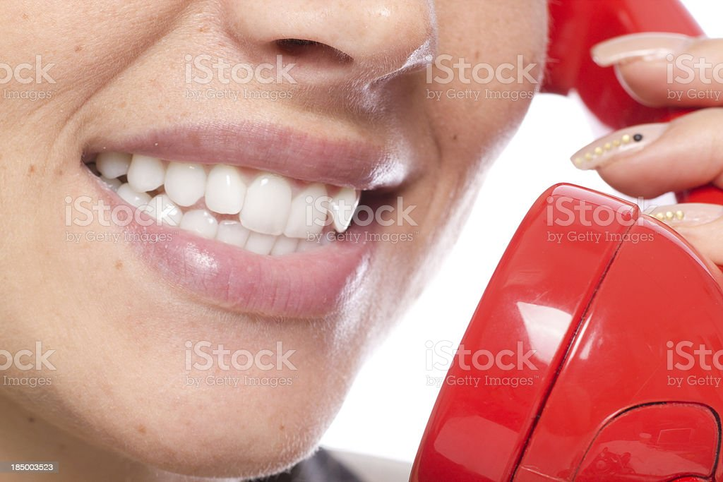 Telephone love talk stock photo
