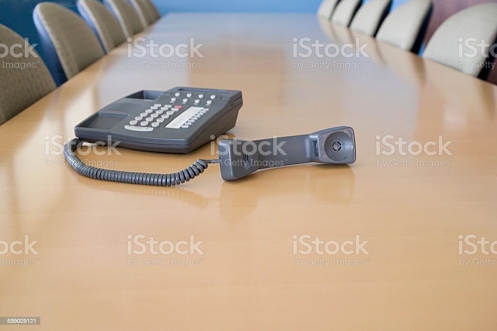 Telephone off the hook stock photo