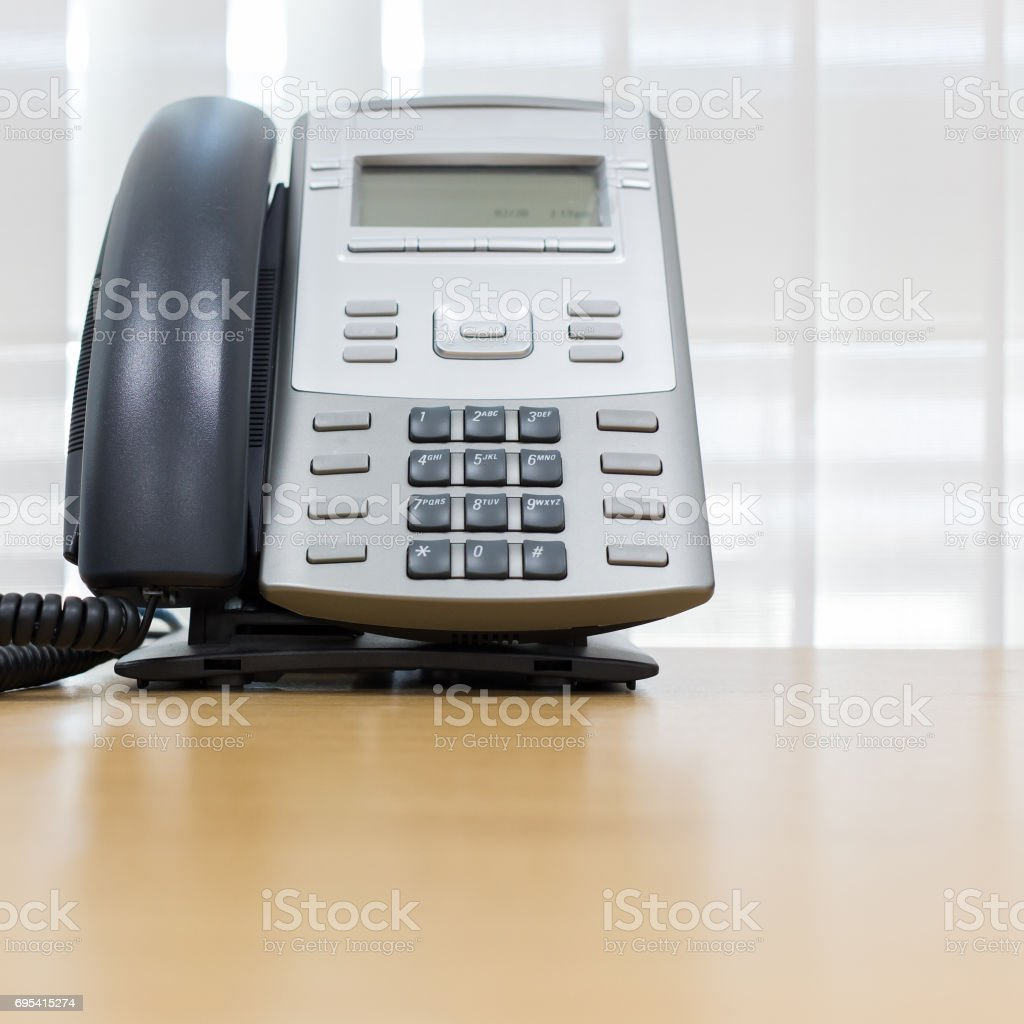 telephone on table work of room service business office stock photo
