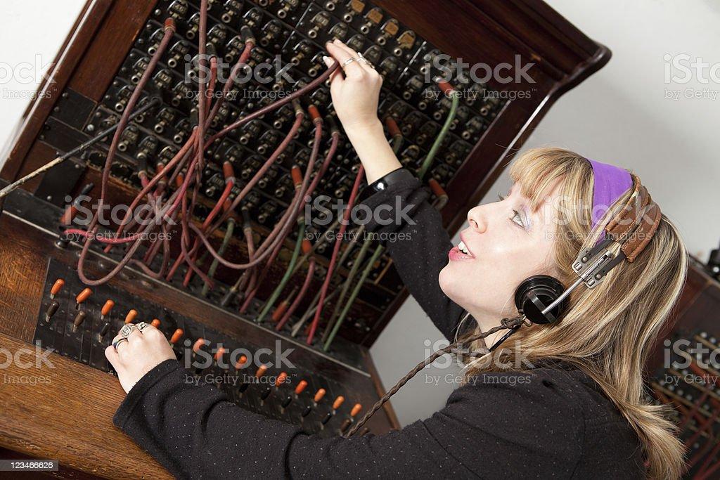 Telephone Operator royalty-free stock photo