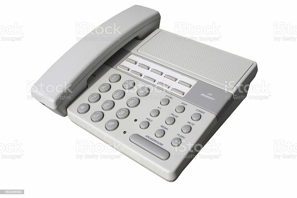 Telephone (clipping path) stock photo