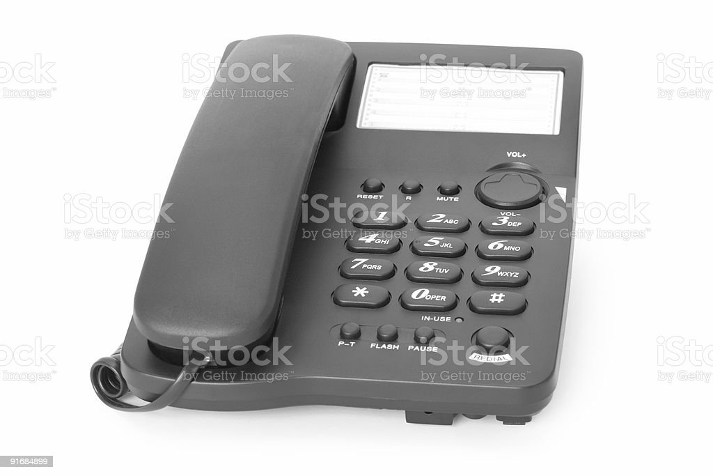 telephone; royalty-free stock photo