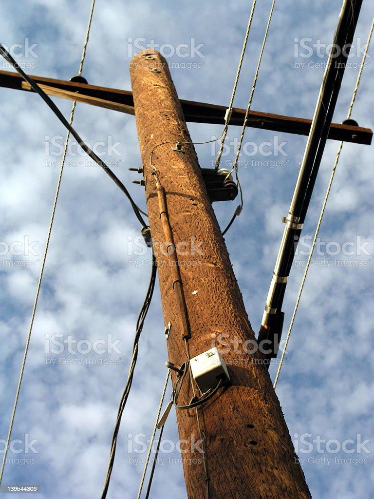 Telephone Pole royalty-free stock photo
