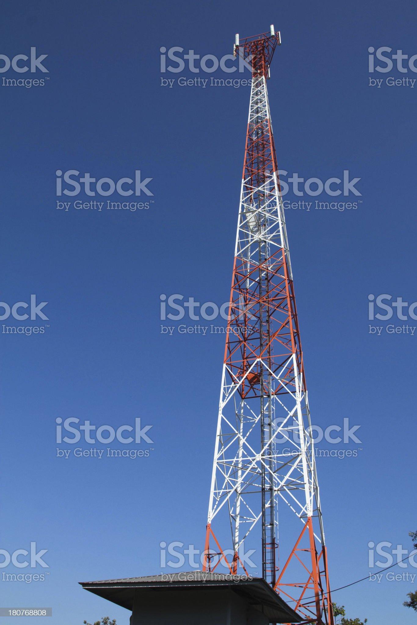 Telephone poles royalty-free stock photo