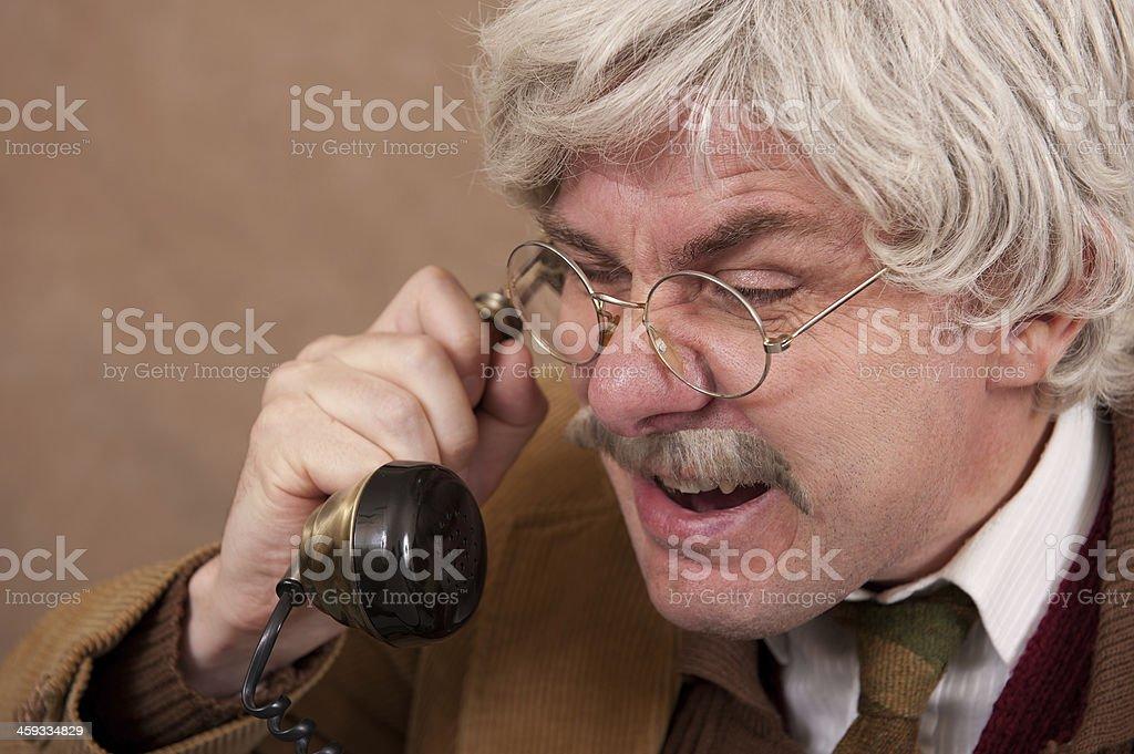 Telephone Rant stock photo