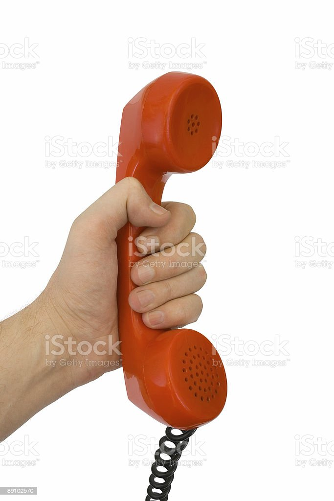 Telephone receiver in hand royalty-free stock photo