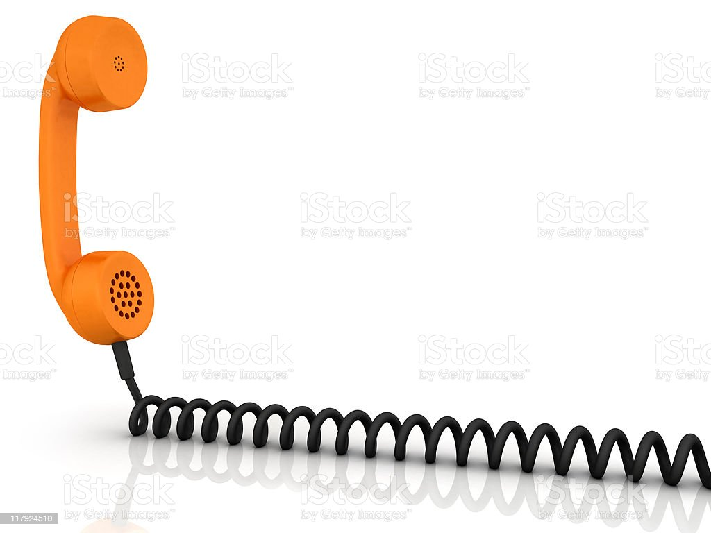 Telephone receiver stock photo