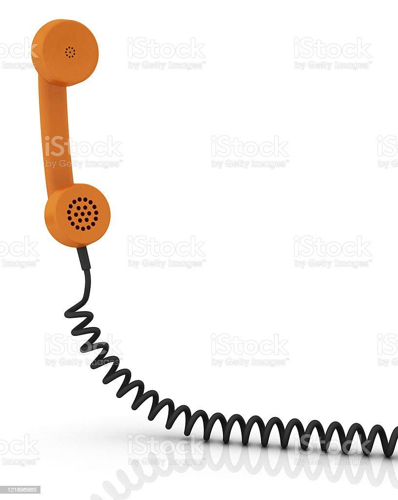 Telephone receiver stock photo