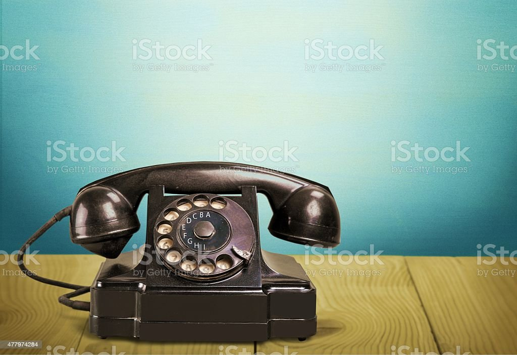 Telephone, Retro Revival, Old-fashioned stock photo