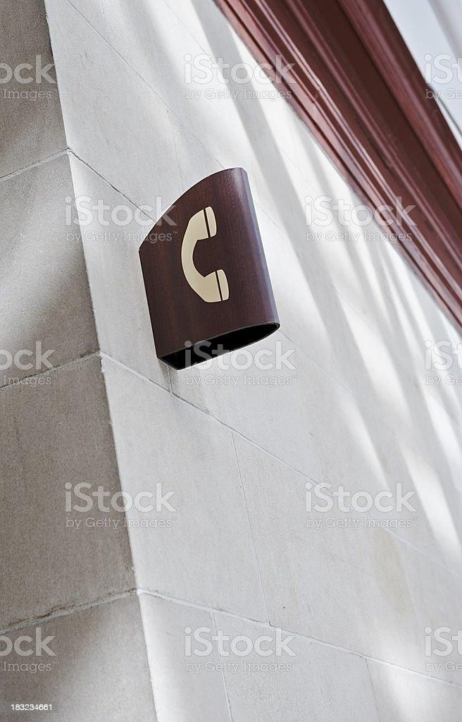 Telephone sign stock photo