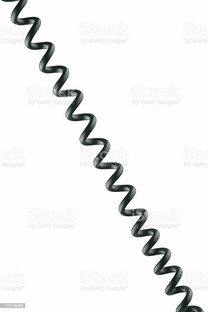 Telephone spiral cord stock photo