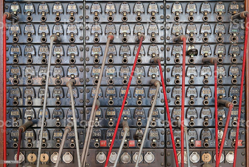 Telephone switchboard stock photo