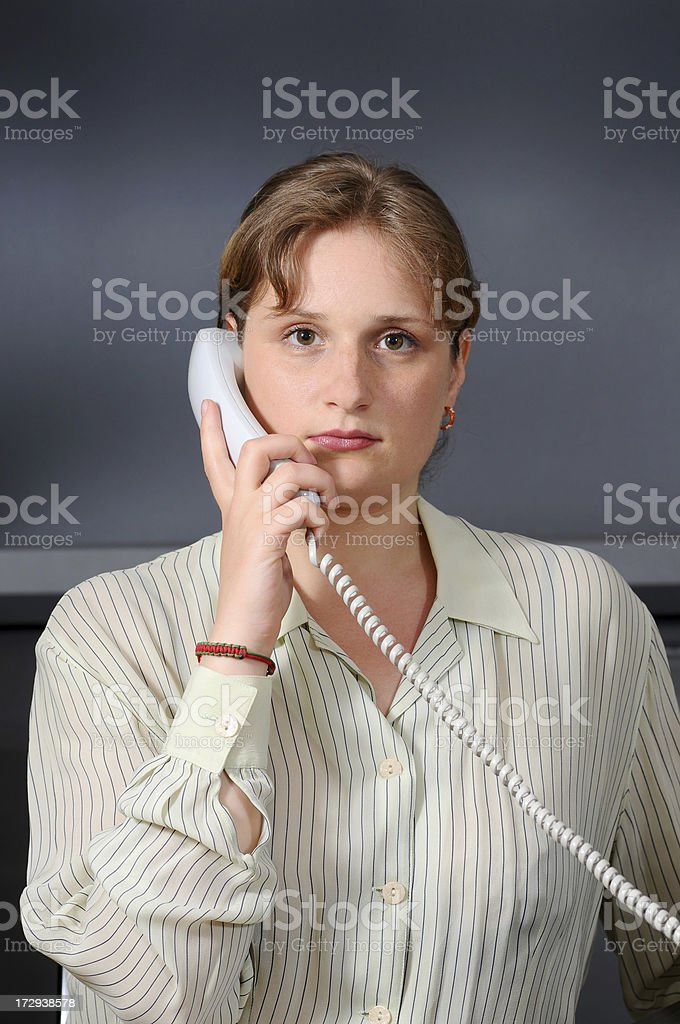 telephone worker royalty-free stock photo