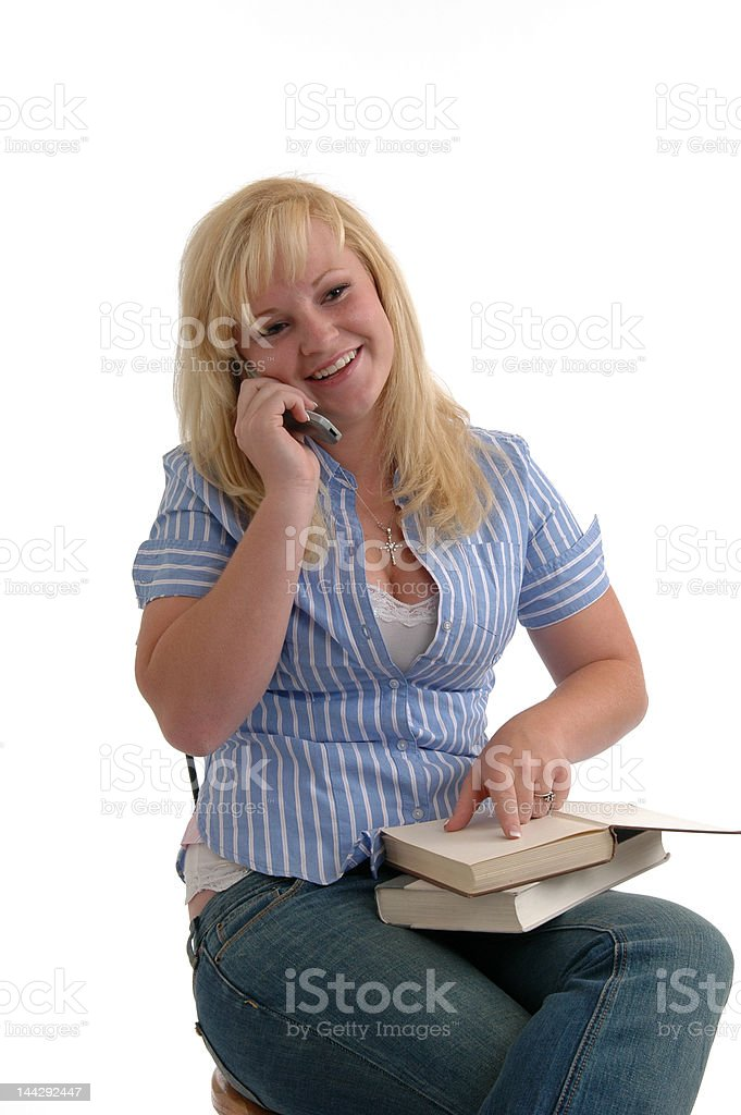 TelephoneHomework royalty-free stock photo