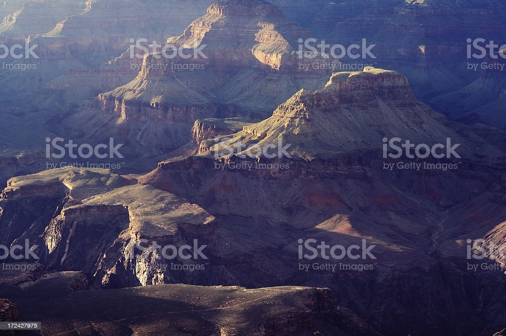 Telephoto landscape of Grand Canyon, Arizona, USA royalty-free stock photo