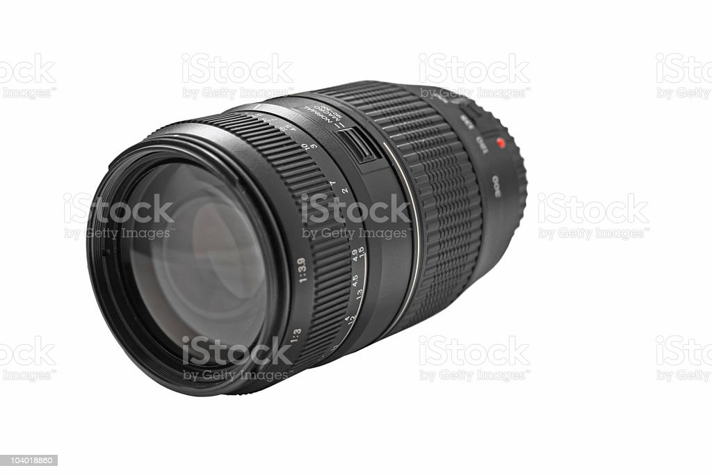 Telephoto lens royalty-free stock photo