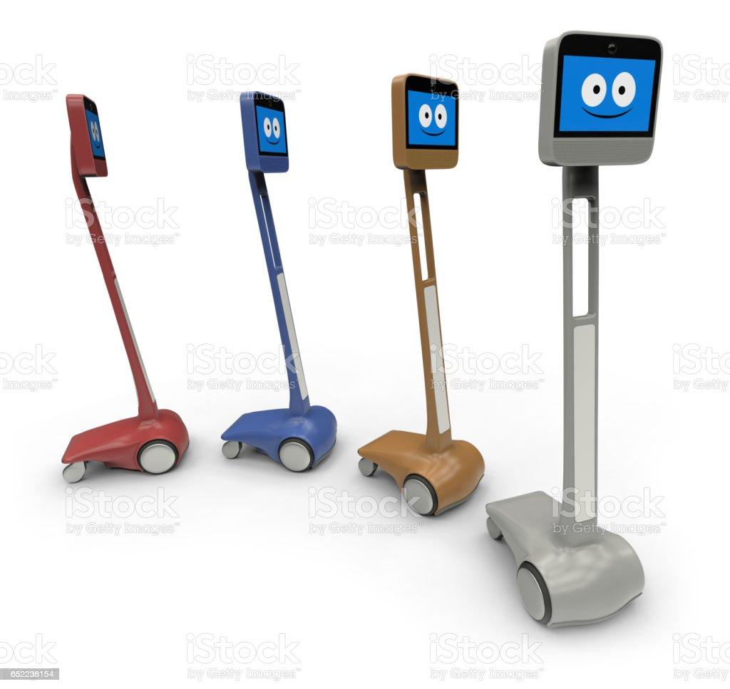 Telepresence robot stock photo