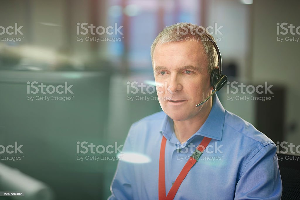telesales manager stock photo