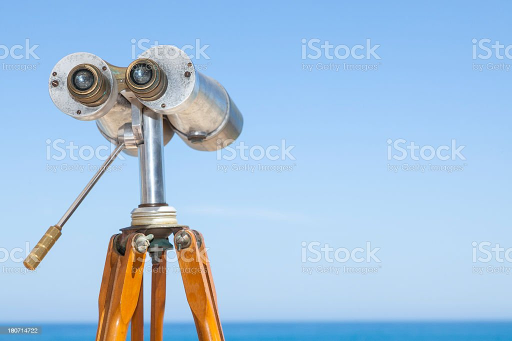 Telescope by Ocean royalty-free stock photo