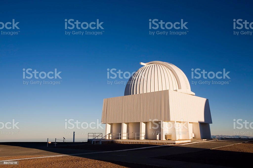Telescope in the Andes stock photo